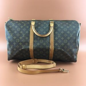 Preowned LV Keepall Bandouliere 50 With Strap